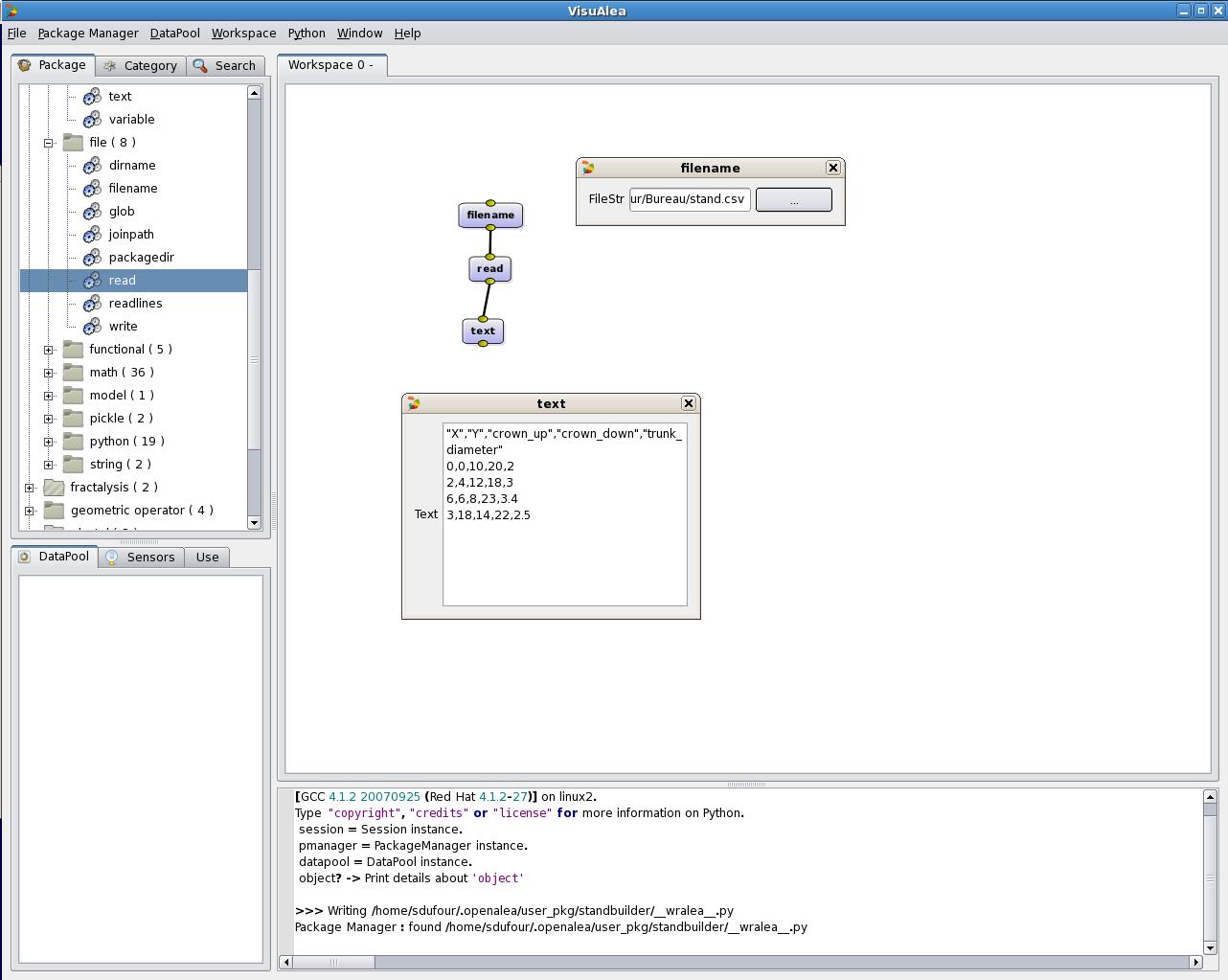documentation:tutorials:beginners - OpenAlea
